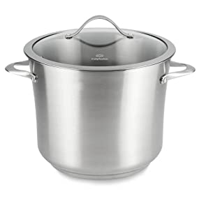 Calphalon Contemporary Stainless Steel 12-Quart Covered Stock Pot
