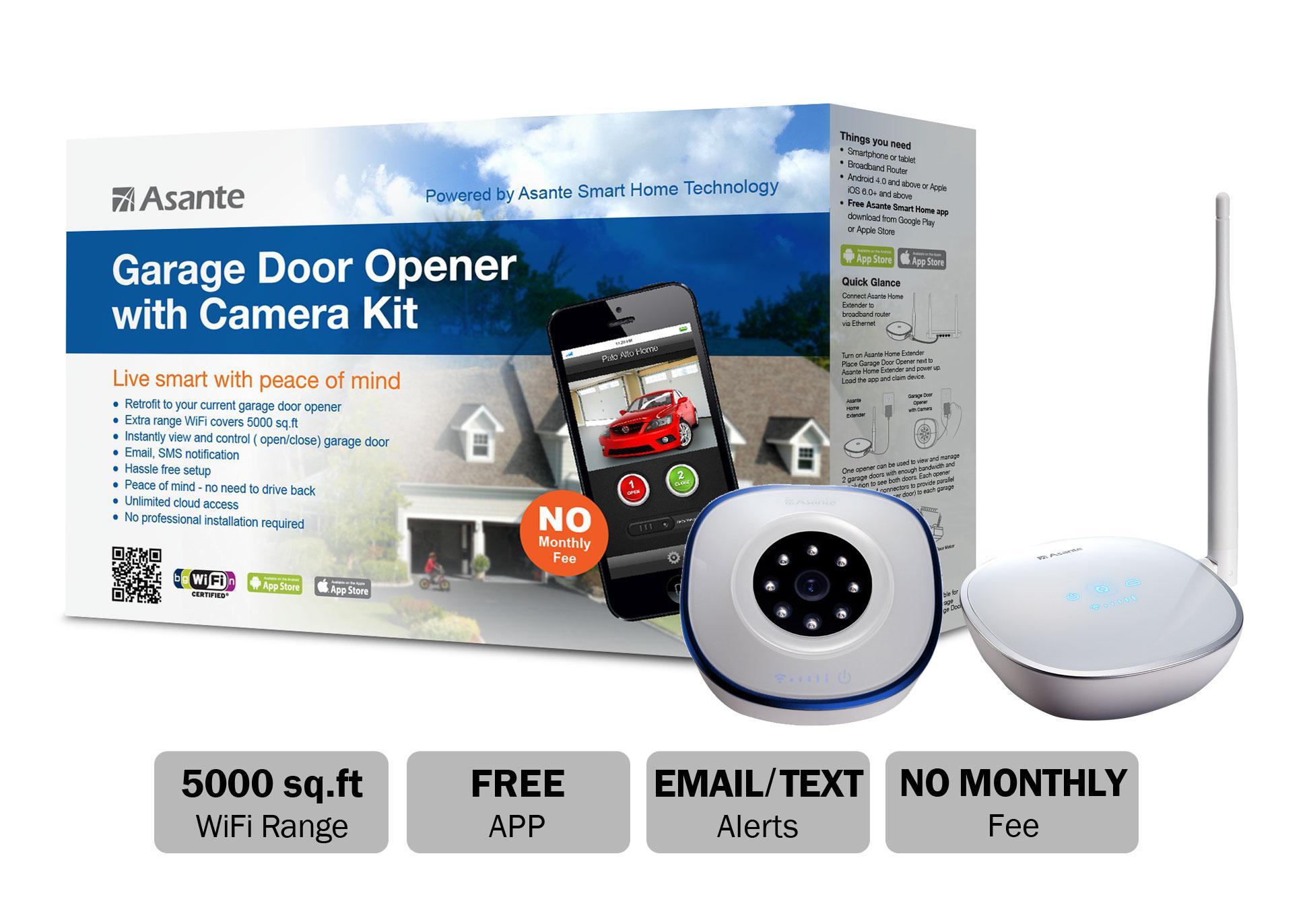 Amazon Com Asante Garage Door Opener With Camera Kit