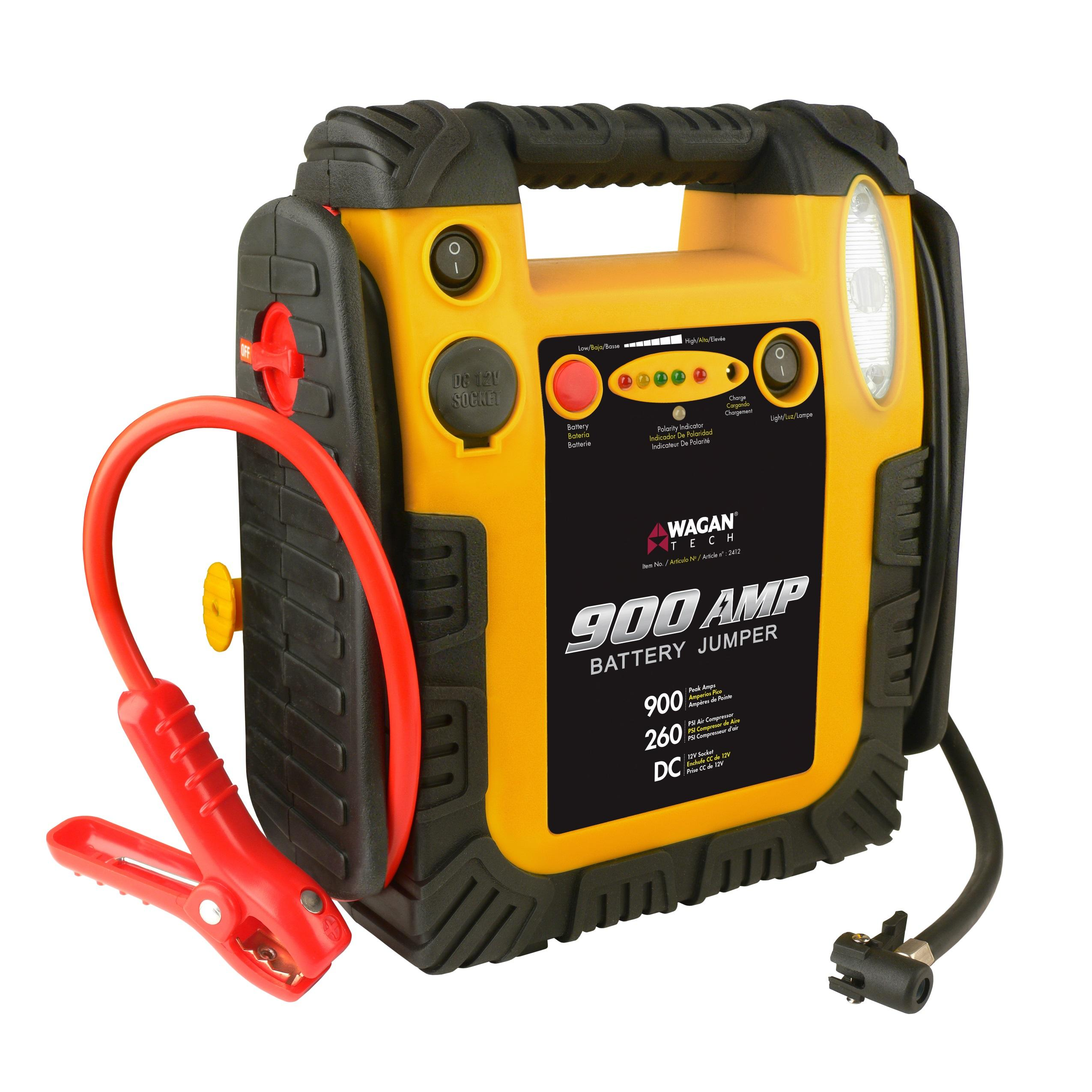 Amazon.com: Wagan 900 Amp Battery Jumper With Air