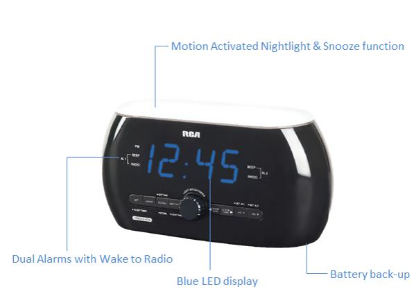 Amazon Com Rca Clock Radio With Motion Activated Soft