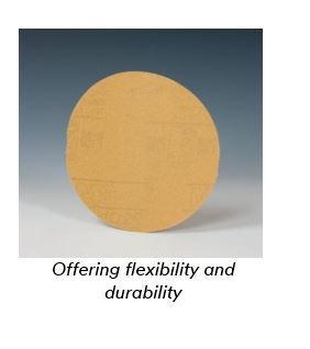 P180 Grit 5 Diameter 3M Stikit Paper Disc Roll 210U Roll of 250 5 Diameter Aluminum Oxide