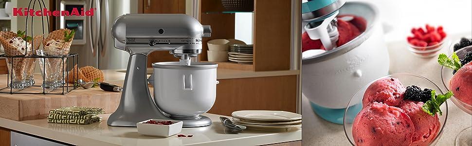 Amazon.Com: Kitchenaid Kica0Wh Ice Cream Maker Attachment