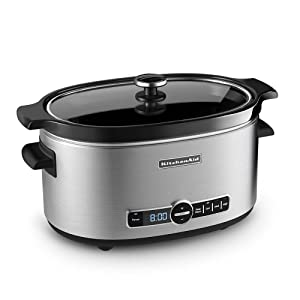 New Kitchenaid 6 Qt Slow Cooker Crock Pot Stainless Steel Standard Lid Ebay