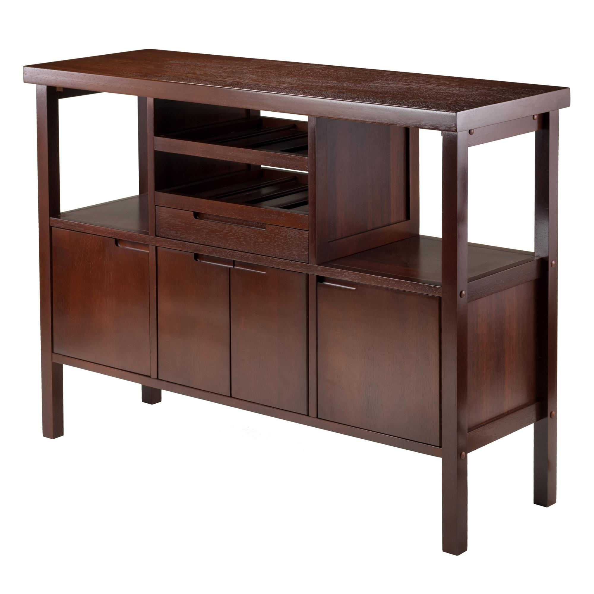 winsome diego buffet sideboard table brown. Black Bedroom Furniture Sets. Home Design Ideas