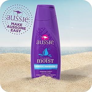 aussie, hair care, moisturizing shampoo