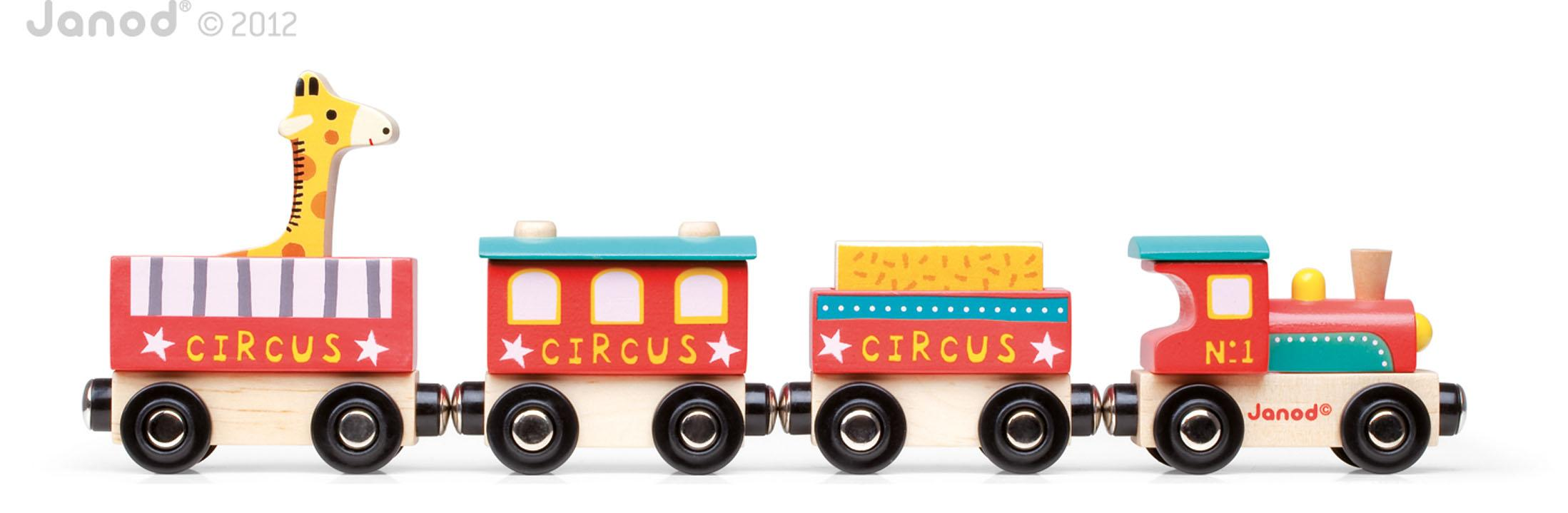 Amazon.com: Janod Story Train Circus: Toys & Games