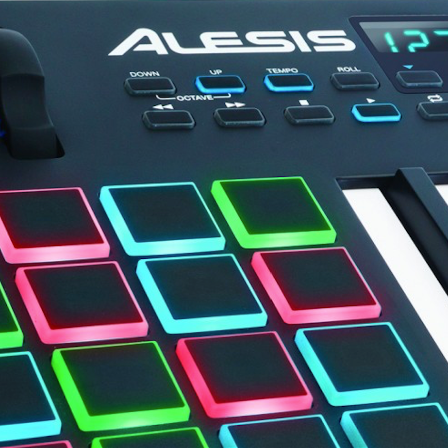 alesis vi49 advanced 49 key usb midi keyboard drum pad controller 16 pads 12. Black Bedroom Furniture Sets. Home Design Ideas