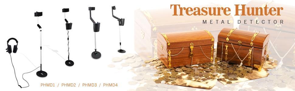 pyle metal detector, treasure hunter