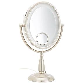 Amazon Com Jerdon Hl9510n 8 Inch X 10 Inch Oval Lighted