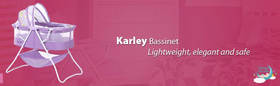 karley, dream on me, baby products, bassinets, DOM Family