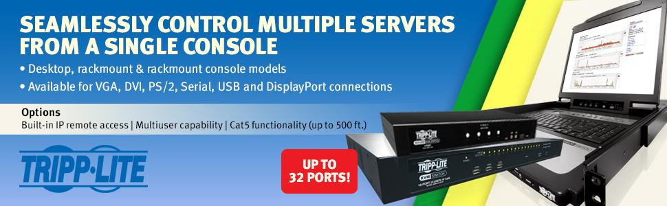 Amazon com: Tripp Lite 2-Port DVI Dual-Link/USB Desktop KVM