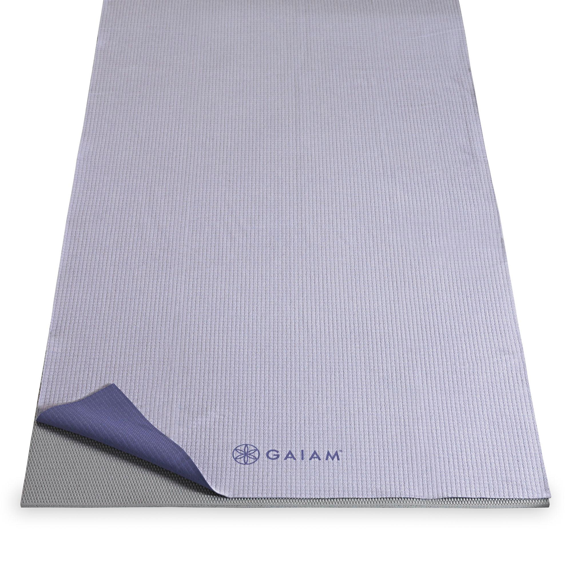 Amazon.com : Gaiam No-Slip Yoga Mat Towel, Citron Storm