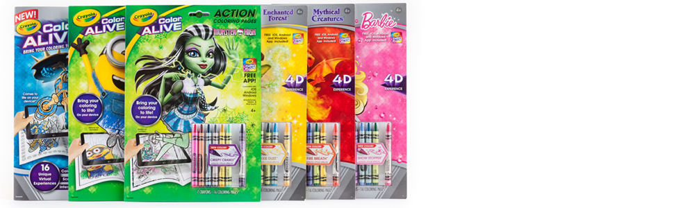 crayola color alive coloring pages