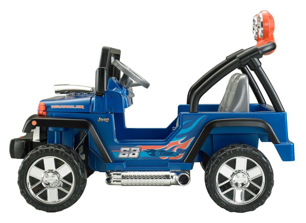 power wheels hot wheels jeep wrangler blue. Black Bedroom Furniture Sets. Home Design Ideas