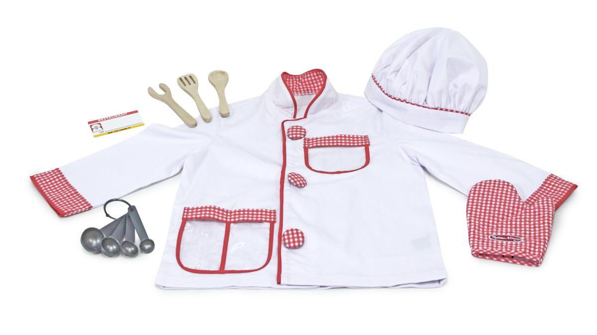 Melissa Doug Chef Role Play Costume Dress Up Set With Realistic Accessories