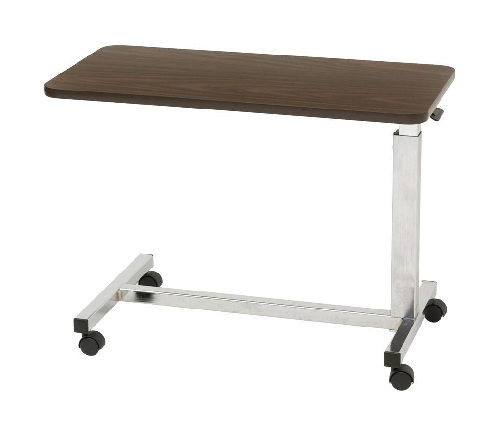 Drive Medical Low Height Overbed Table Walnut Health Personal Care