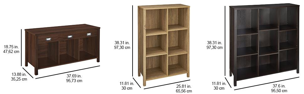 premium adjustable cubes, cube storage, premium storage, bench storage, bin  storage, - Amazon.com: ClosetMaid 16057 Premium Adjustable 9-Cube Organizer
