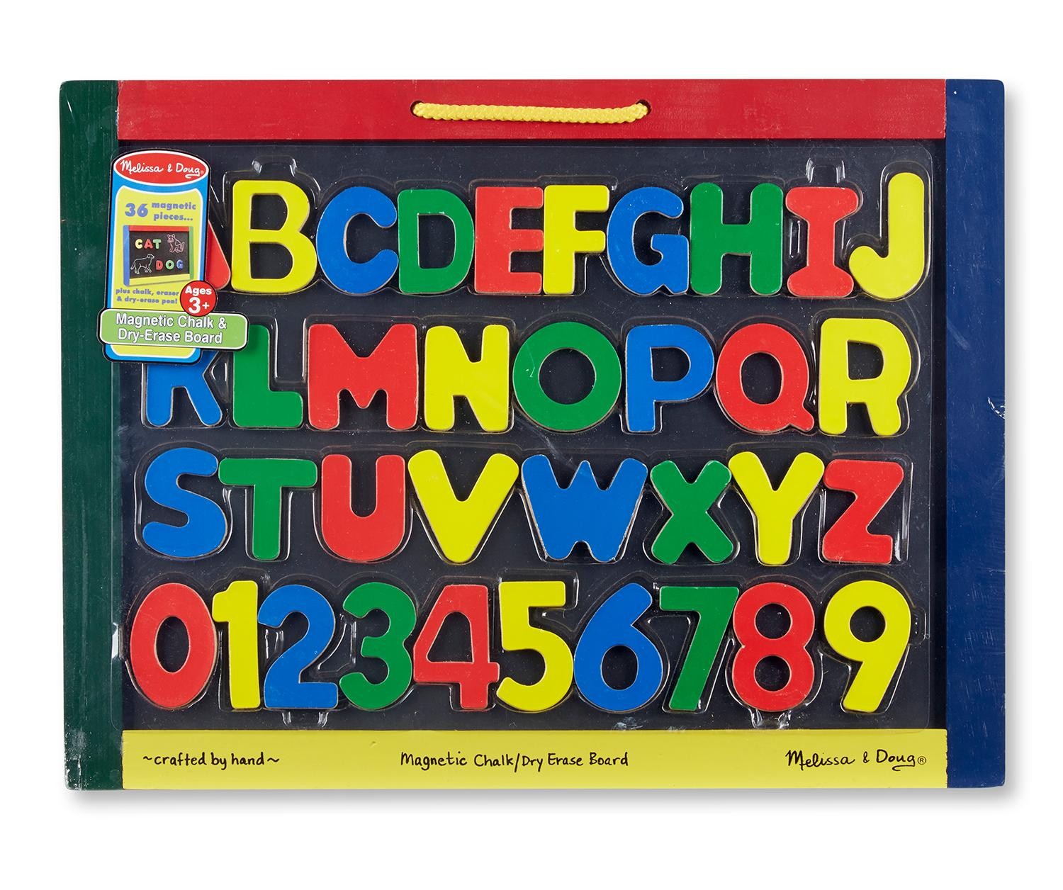 Amazon.com: Melissa & Doug Magnetic Chalkboard and Dry Erase Board