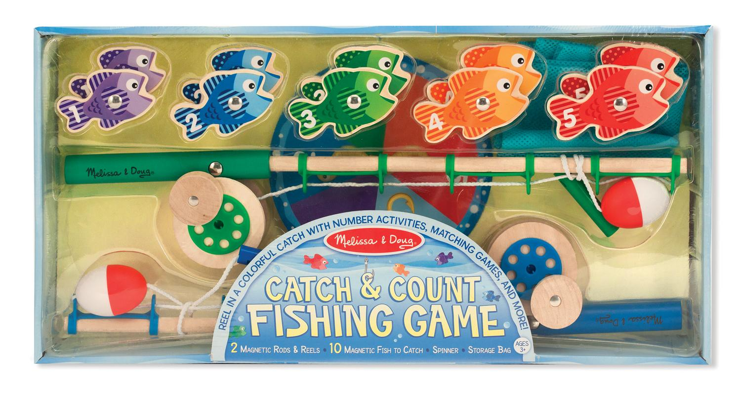 Melissa doug catch count wooden fishing for Fish games for toddlers