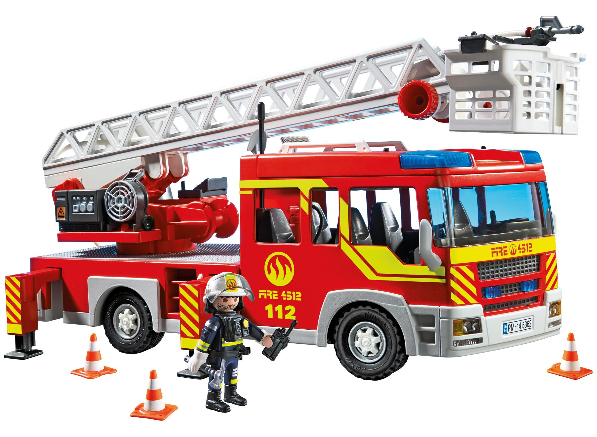 Amazon Com Playmobil 174 Ladder Unit With Lights And Sound