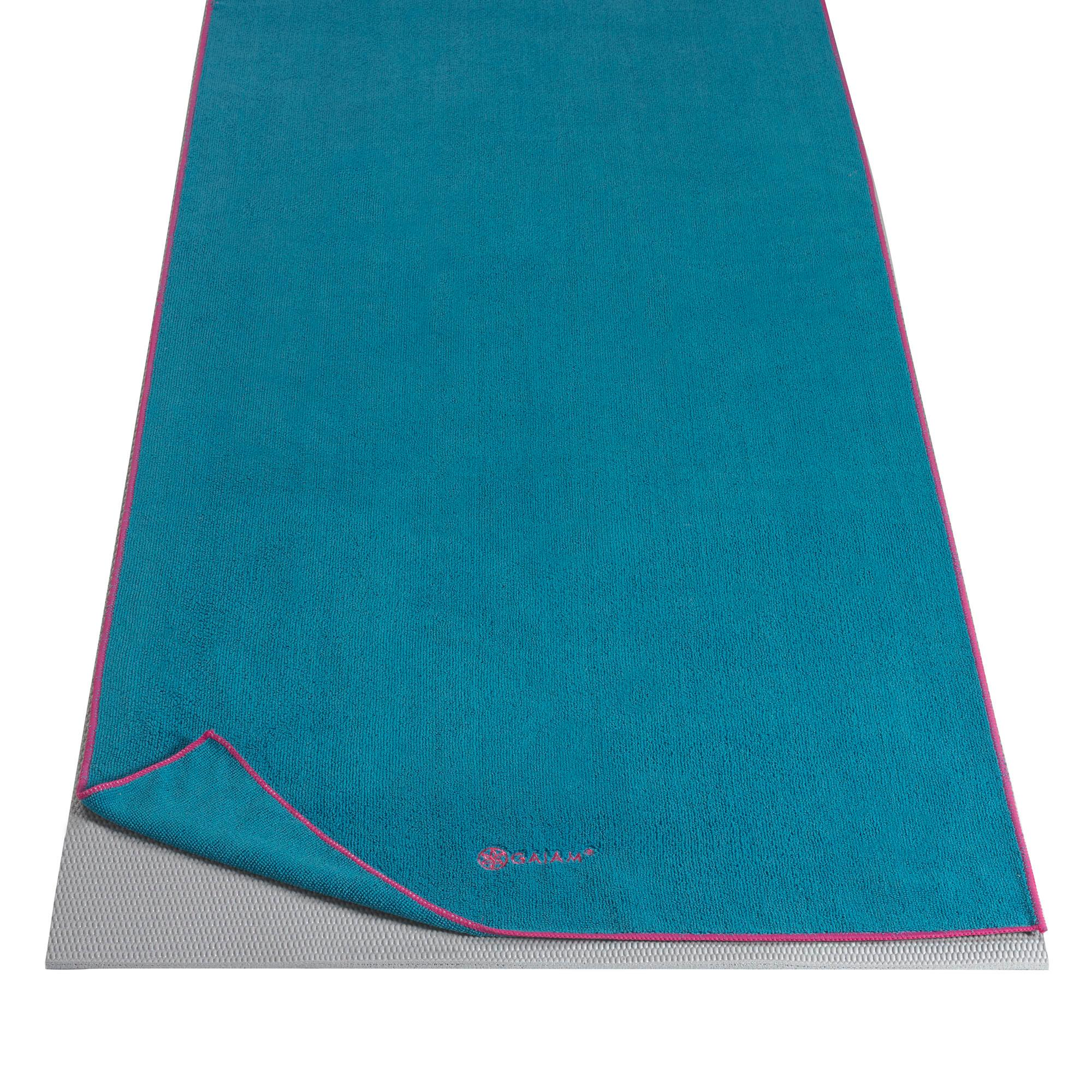 Amazon.com : Gaiam Yoga Mat Towel Microfiber Yoga Mat And