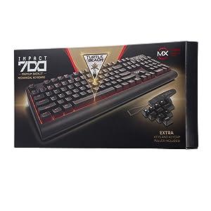 Turtle Beach IMPACT 700 Premium Backlit Mechanical Gaming Keyboard, Turtle Beach IMPACT 700 Premium