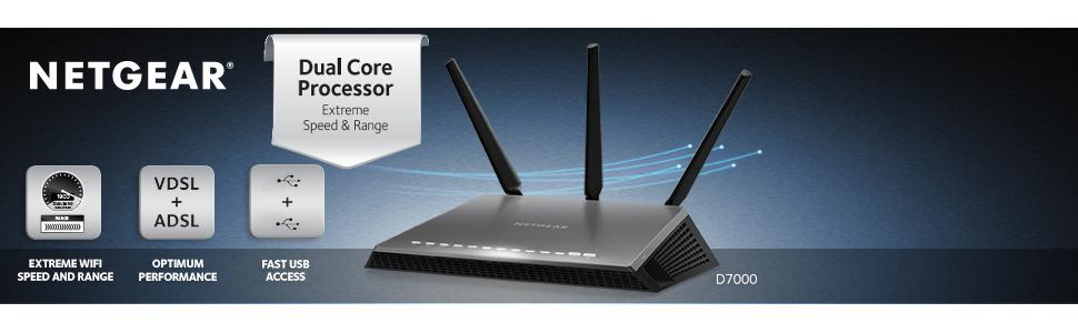 amazon com netgear nighthawk ac1900 vdsl adsl modem router