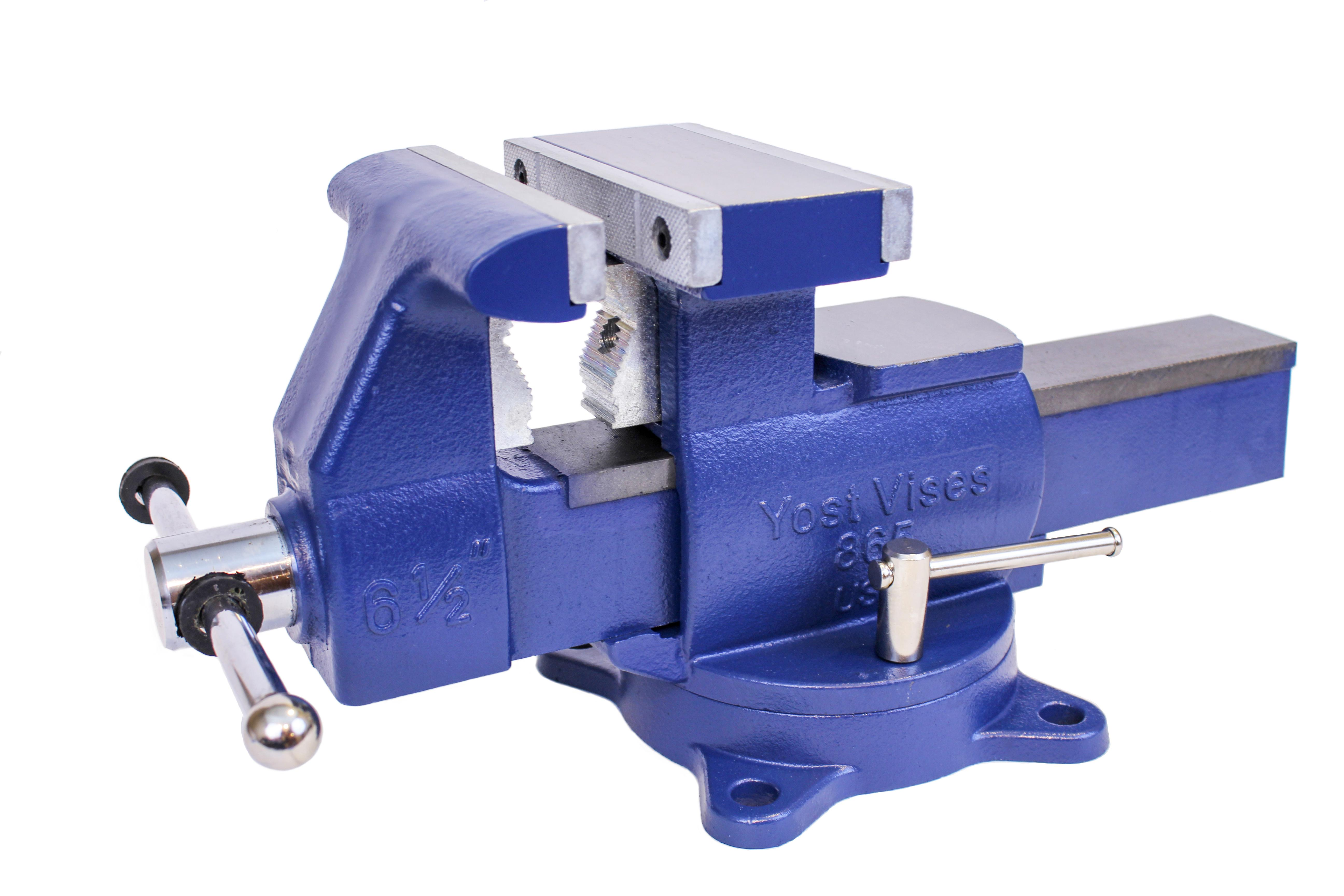 Yost Vises 865 Di 6 5 Quot Heavy Duty Reversible Bench Vise Made In Usa Bench Clamps Amazon Com