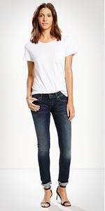 White skinny jeans size 8