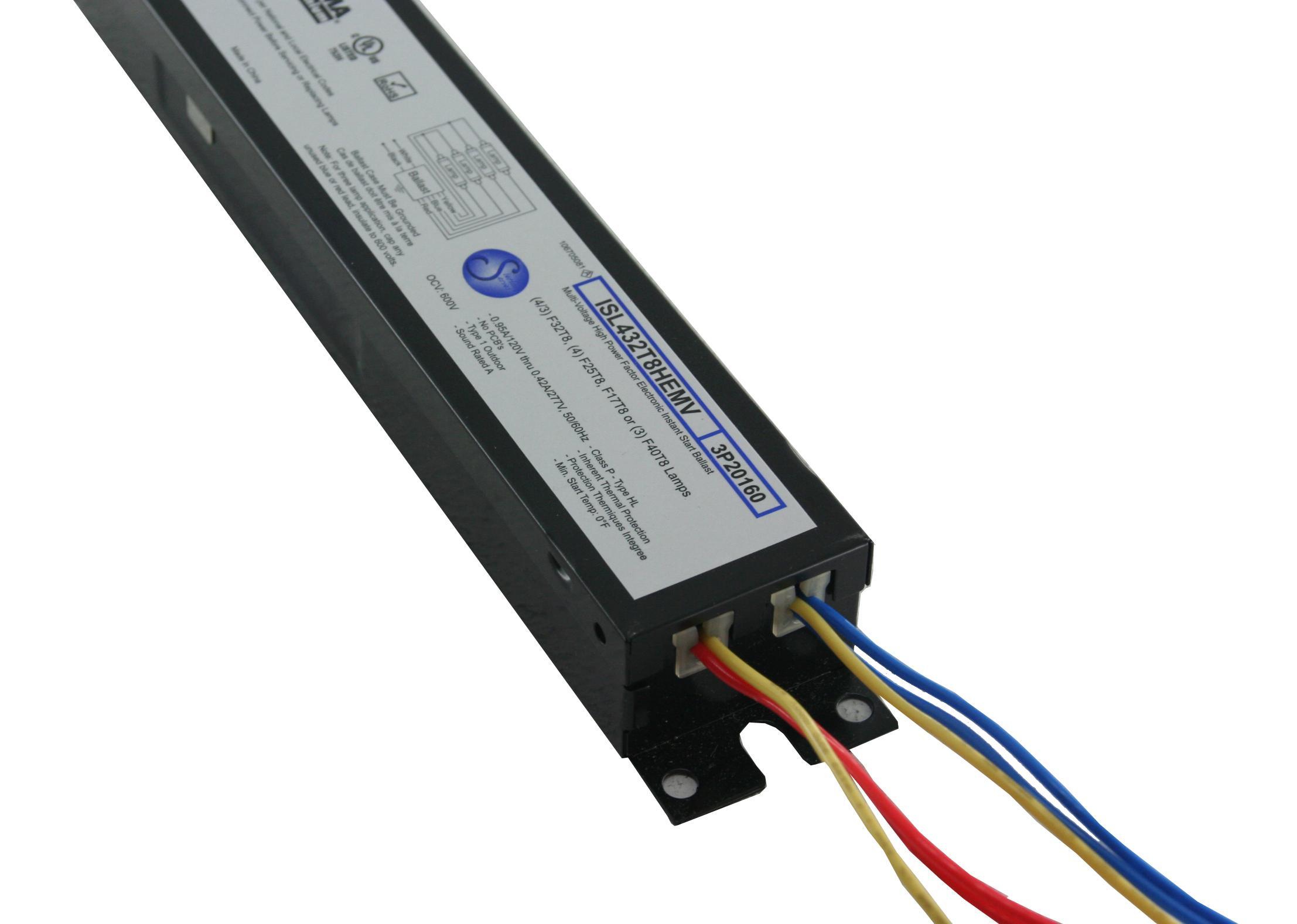 Robertson Worldwide Isl432t8hemv Ah 3p20160 120 277 Vac 50 60 Hz Wiring Diagram For A 3 Lamp Ballast End User Benefits