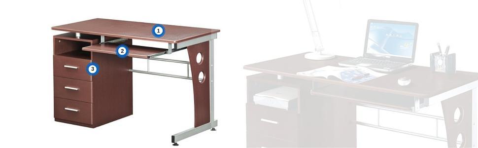 Exceptionnel Techni Mobiliu0027s Ample Storage Computer Desk