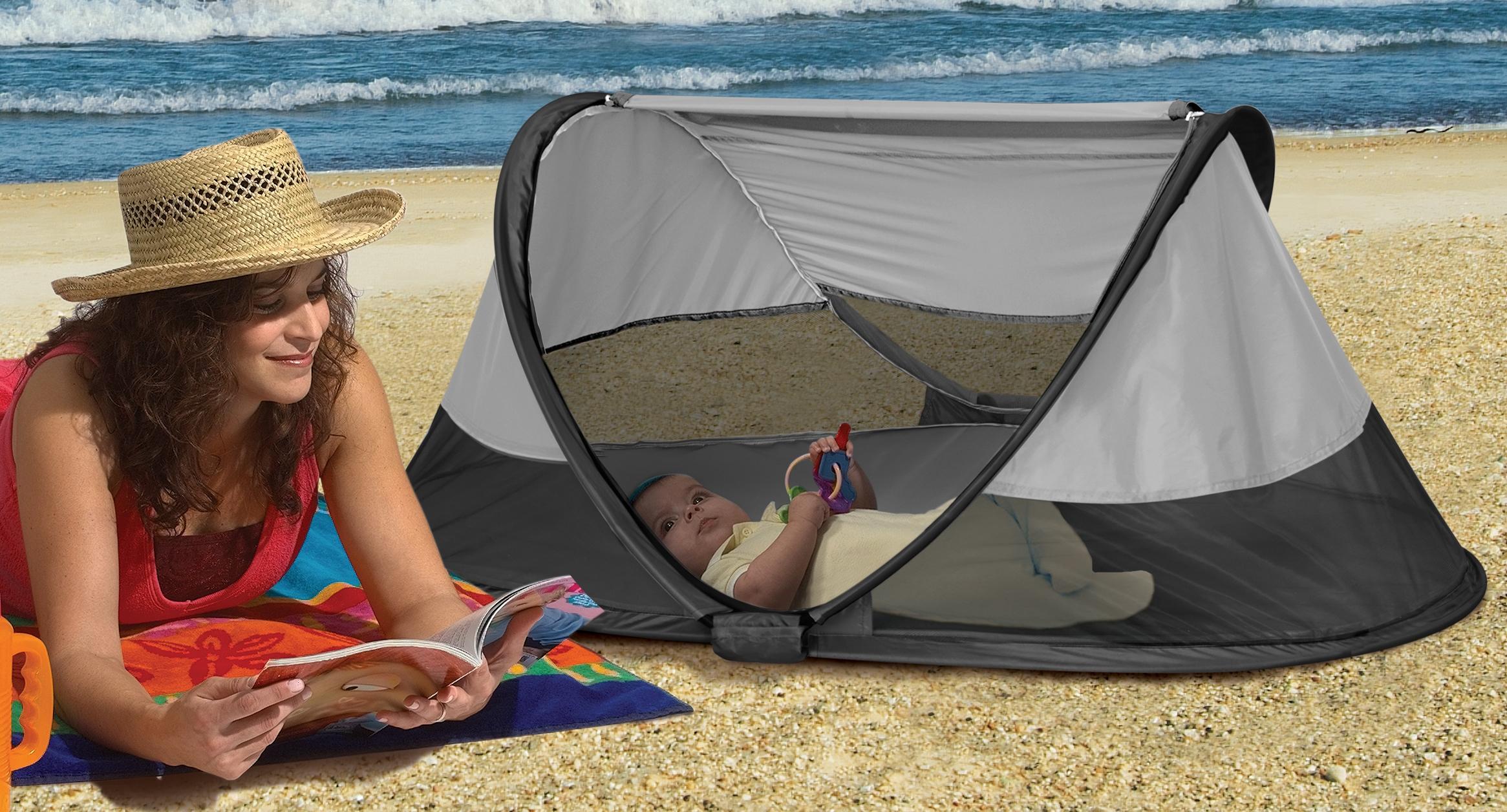 KidCo PeaPod  sc 1 st  Amazon.com & Amazon.com : KidCo P3012 PeaPod Infant Travel Bed Midnight : Baby