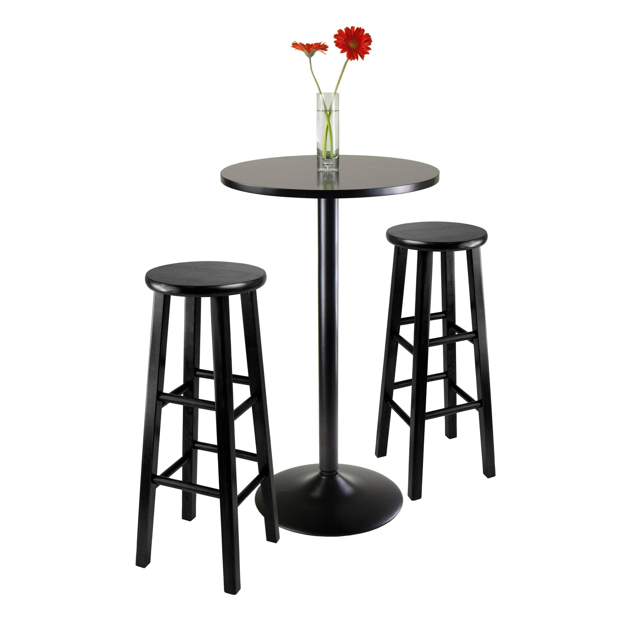 Amazon Com Winsome 20331 Obsidian Pub Table Set 1 Black