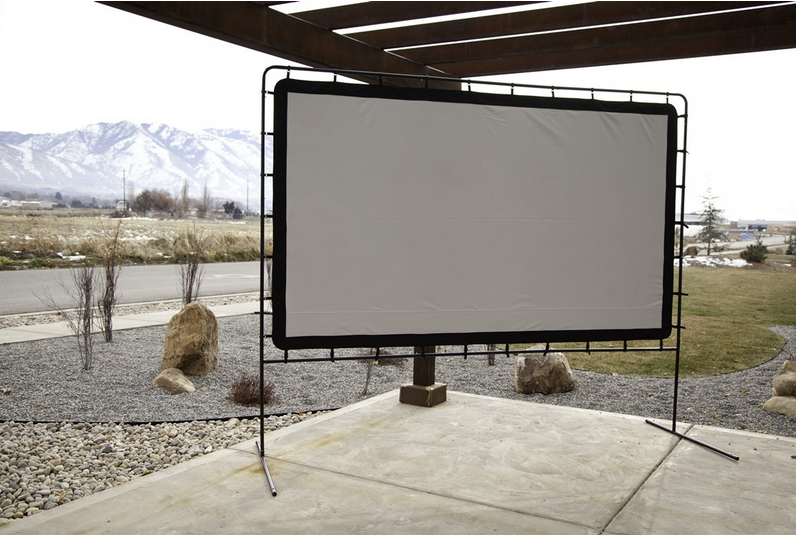 Large Portable Movie Screens : Theater movie screen portable outdoor backyard projector