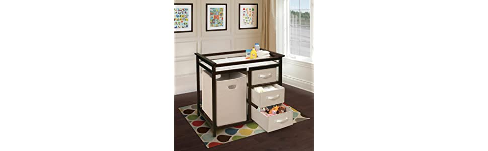 badger basket modern changing table with