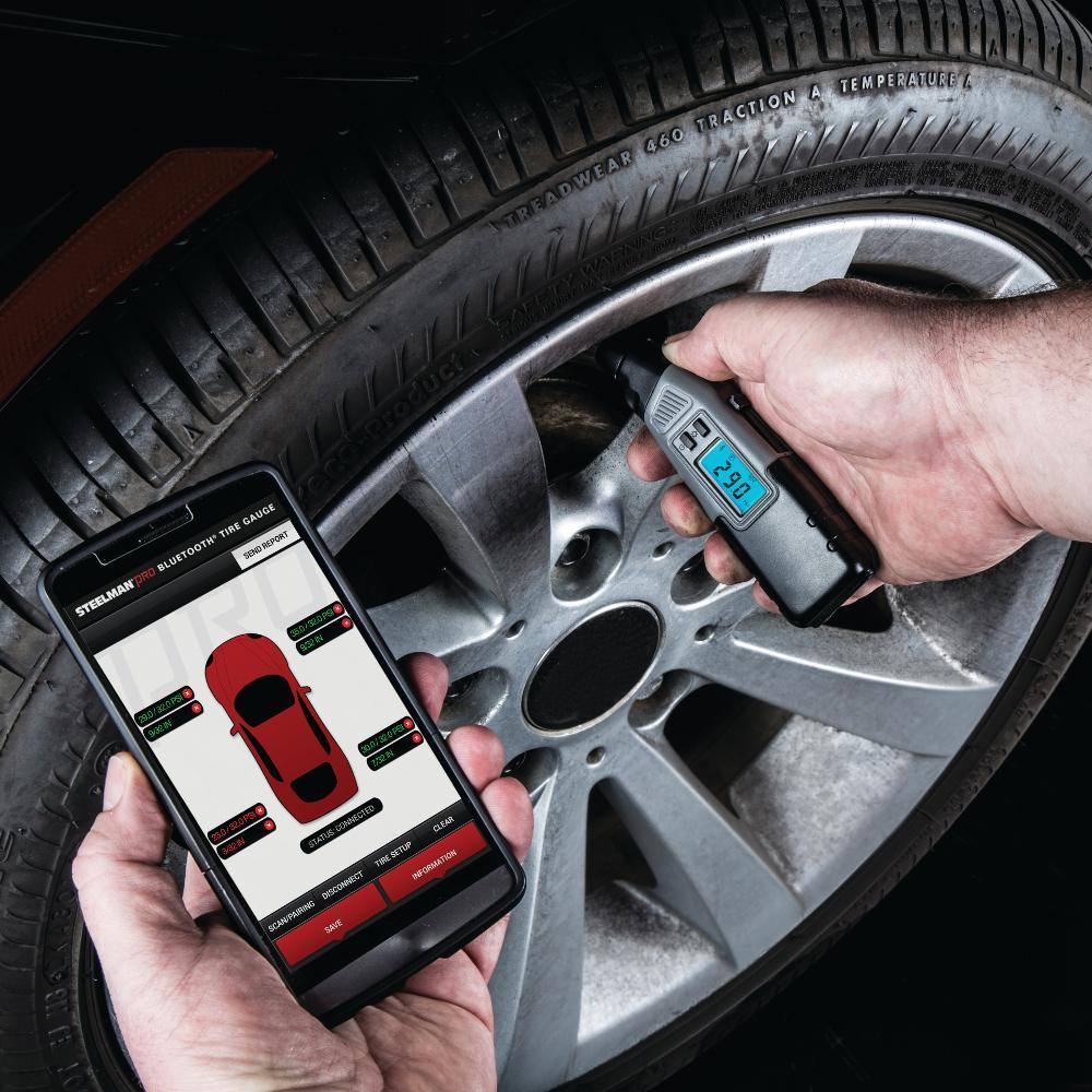Amazon.com: STEELMAN PRO 78829 Bluetooth Tire Pressure And Tread Depth Gauge: Automotive