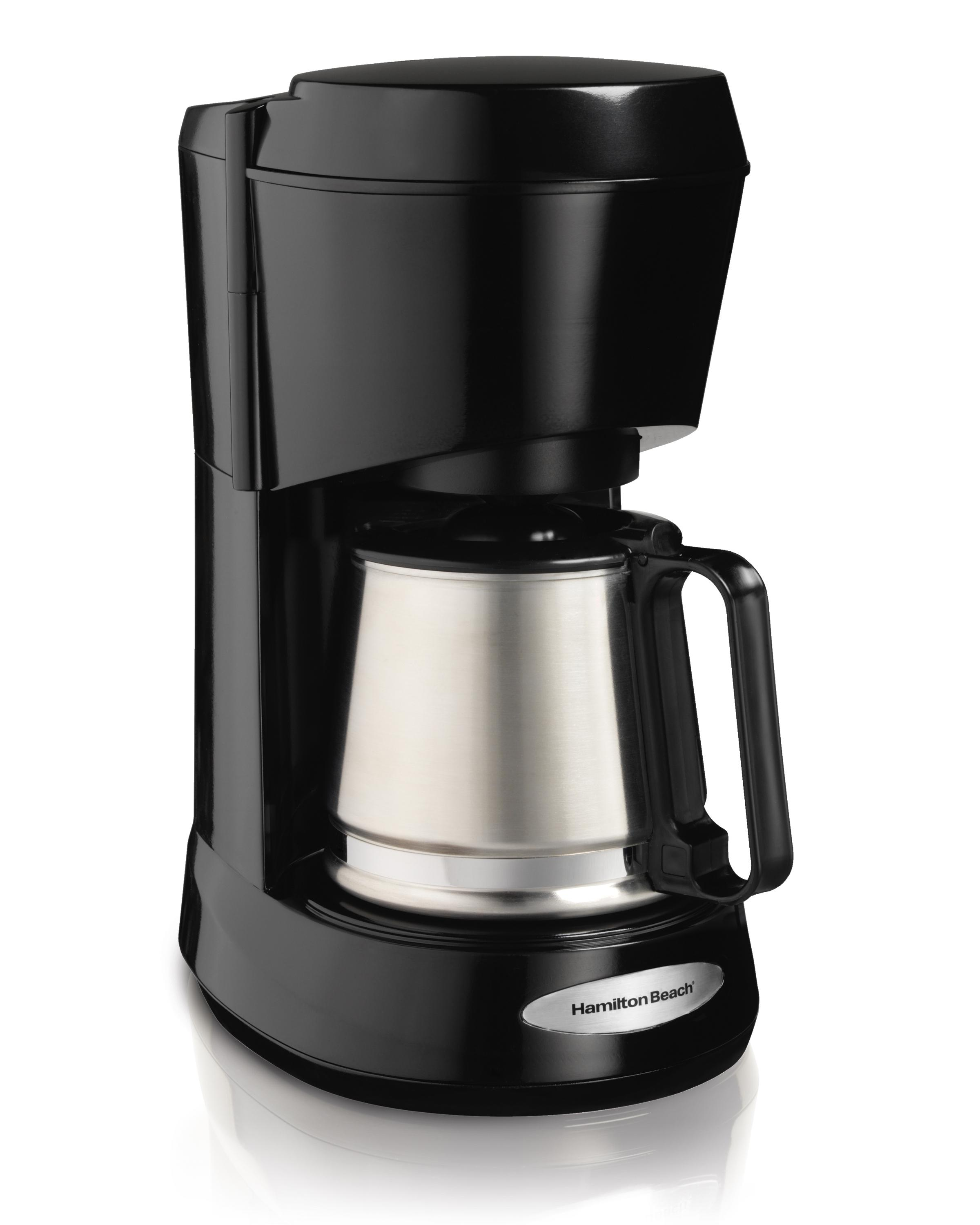 Coffee Maker Stainless Carafe : Amazon.com: Hamilton Beach 5-Cup Coffee Maker with Stainless Carafe (48137): Drip Coffeemakers ...