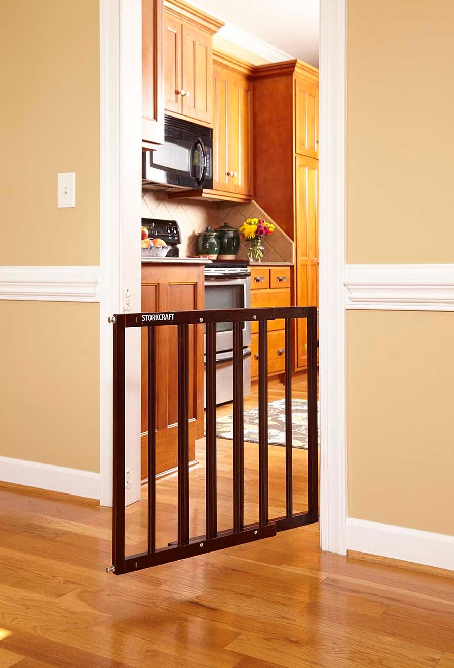 Amazon Com Stork Craft Easy Walk Thru Wooden Safety Gate