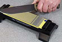 DuoSharp plus Bench Stone with base sharpening tactical knife