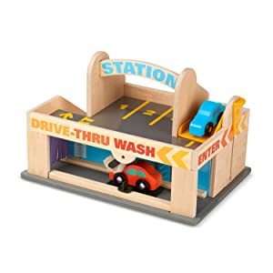 cars;vehicles;park;wash;auto;gas;preschool;wooden;toys;boys;girls