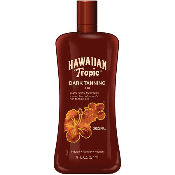 hawaiian tropic tanning oil dark