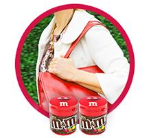 M&M'S To-go Bottles fit in purses, cup holders, and backpacks to hold your chocolate candy.