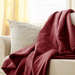 Amazoncom Sunbeam Heated Throw Blanket Microplush 3 Heat
