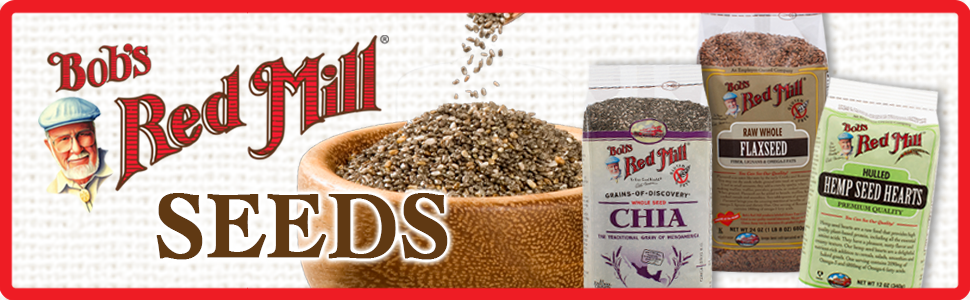 Bob's Red Mill Seeds, Chia Seed, Flaxseed Meal, Flax Seed, Hemp Seed, bobs red mill seed, baking