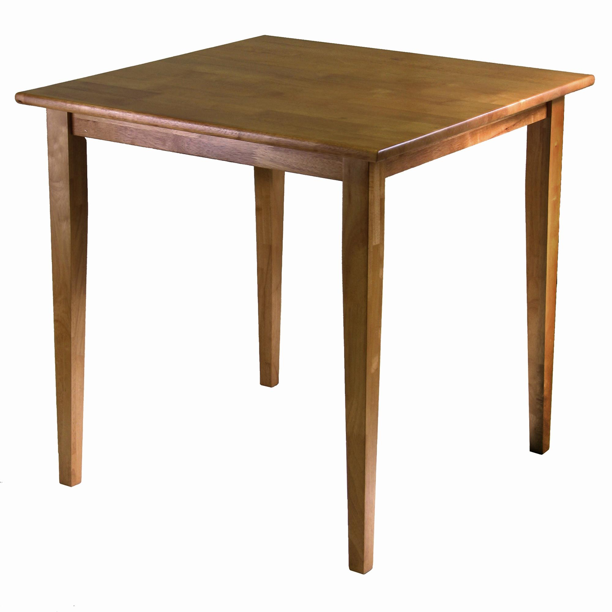 Wooden square dining table - View Larger