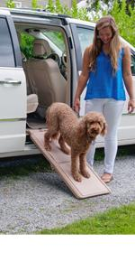 Pet Gear Short Bi-Fold Carpeted Pet Ramp