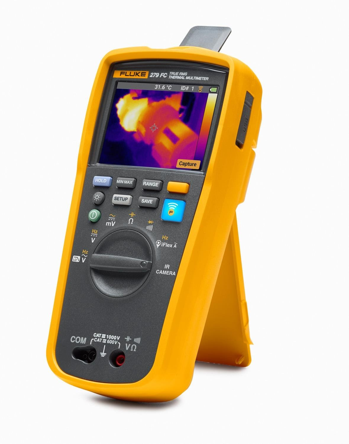 Lithium Ion Battery >> Fluke 279FC Wireless TRMS Thermal Multimeter, Full-Featured Digital with Built-In Thermal Imager ...