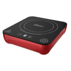 Oster Personal Induction Cooker/Burner with 9 Heat Settings, 1100 Watts, Black