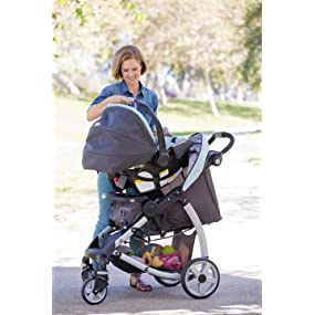 Amazon Com Graco Stylus Click Connect Travel System Stroller Winslet Baby