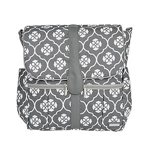 jj cole backpack diaper bag gray floret. Black Bedroom Furniture Sets. Home Design Ideas